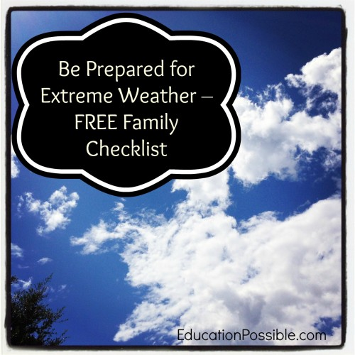 Be Prepared for Extreme Weather - FREE Family Checklist