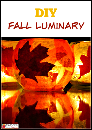 DIY Luminary ~ A Frugal Autumn Craft