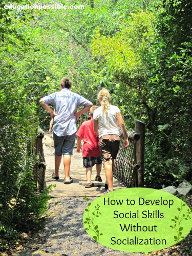 how to develop social skills without socialization education possible