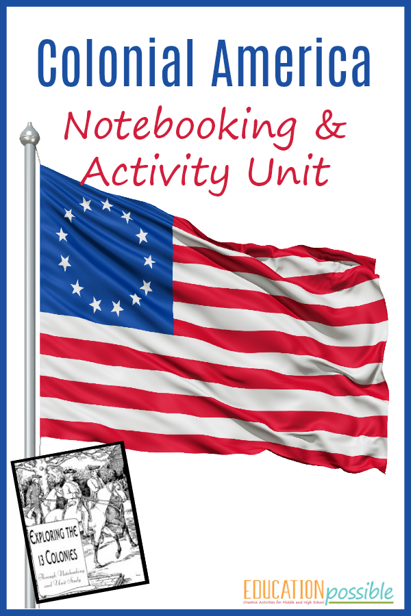 Exploring The 13 Colonies Through Notebooking Unit Study will hopefully make your family's life a bit easier as you learn about this period in history.