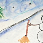 Simple Christmas Art with Chalk Pastels