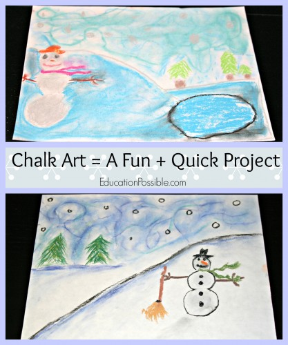 Simple Christmas Art with Chalk Pastels Education Possible