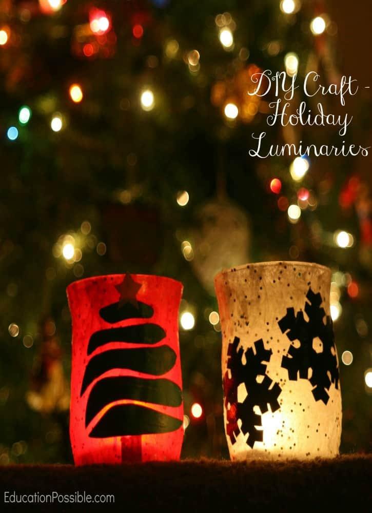 DIY Craft: Holiday Luminaries Education Possible