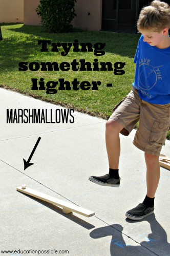 catapulting marshmallows Education Possible