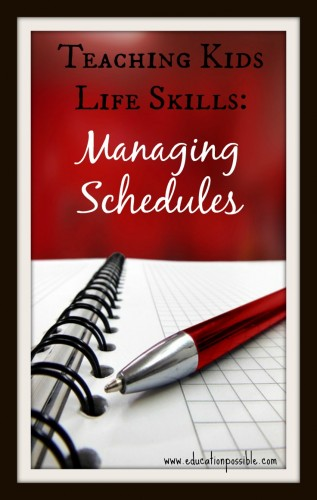 teaching kids how to make a schedule Education Possible