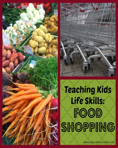 teaching kids how to food shop Education Possible