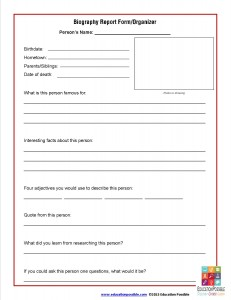 Biography Report Form_Organizer - EducationPossible