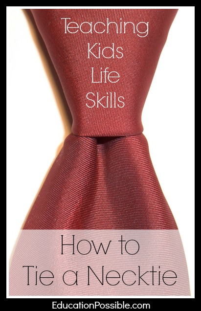 Kids life skills how to tie a necktie teaching kids life skills how to tie a necktie ccuart Image collections