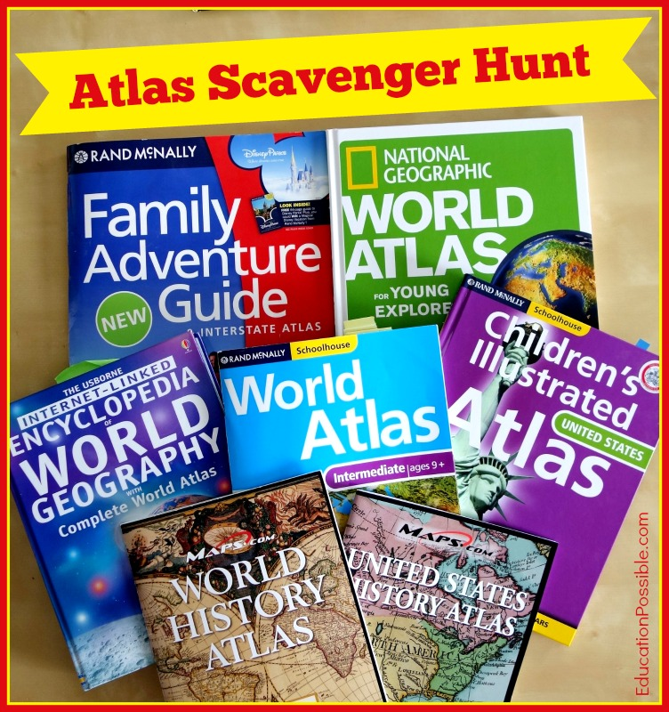 Geography activities world atlas scavenger hunt instructions gumiabroncs Gallery