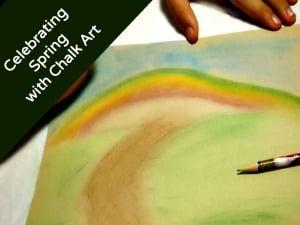 Celebrating Spring with Chalk Art