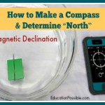 "Geography Activities: How to Make a Compass & Determine ""North"" [FREE Printable]"