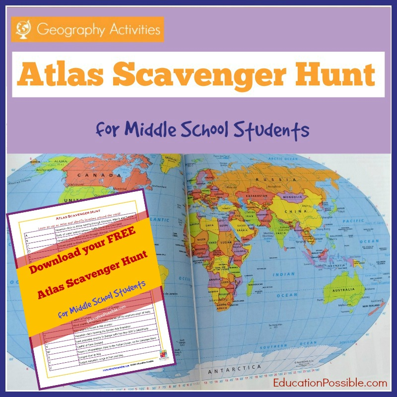 Atlas Scavenger Hunt Education Possible
