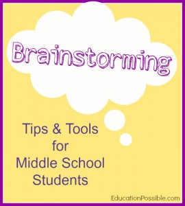 Brainstorming Tips & Tools for Middle School Students