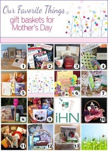 gift basket collage