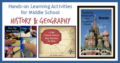 Hands-on Learning Activities for Middle School History & Geography