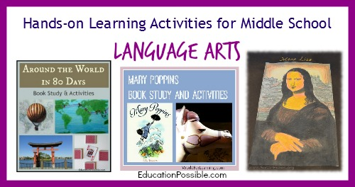 Hands-on learning activities for middle school - Language Arts