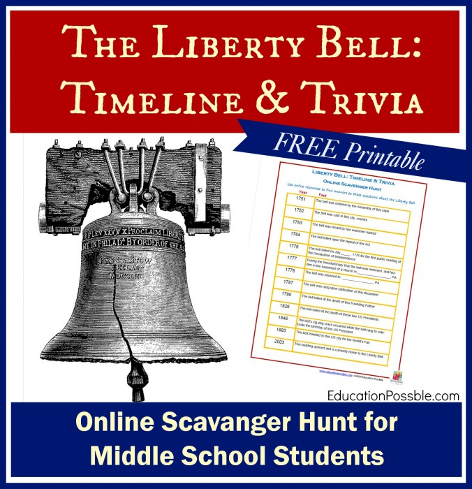 With so many interesting facts to learn about this famous bell, you'll want to add this Liberty Bell Timeline Trivia scavenger hunt to your lesson plans.