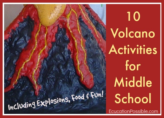 Completing a volcano project is the perfect way to add extra fun to your earth science lessons, and to ancient history studies of the city of Pompeii. You can even make a volcano when when reading Journey to the Center of the Earth. During middle and high school geography lessons teens learn about the four forms of orogenesis (the process of making new mountains). We've included lots of tools to help kids learn about volcanoes.
