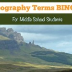 Geography Activities: Geography Terms BINGO [FREE Printable]