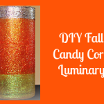 DIY Fall Candy Corn Luminary