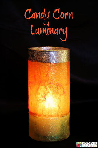 DIY Fall Candy Corn Luminary Education Possible
