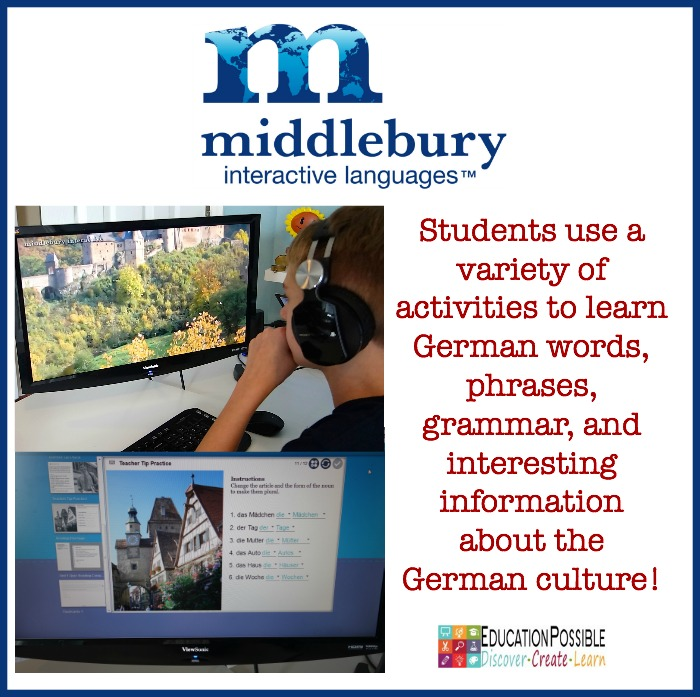 Middlebury Interactive Language - Learning German for Middle School - Education Possible