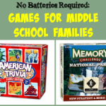 No Batteries Required: Games for Middle School Families
