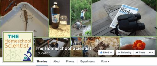 Homeschool Scientist on Facebook