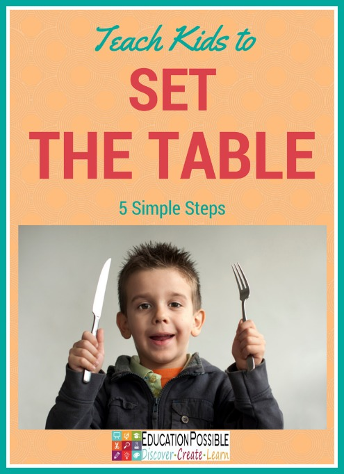 sc 1 st  Education Possible & Teach Kids to Set the Table in 5 Simple Steps
