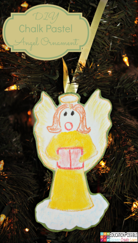 DIY Chalk Pastel Angel Ornament @Education Possible 5 Homemade Christmas Ornaments Teens will want to Make. This season, add these to your ornament collection – they're all teen friendly, cost effective and will take little time to complete. DIY crafts - a great idea for gifts your middle school kids can create.