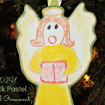 DIY Chalk Pastel Angel Ornament