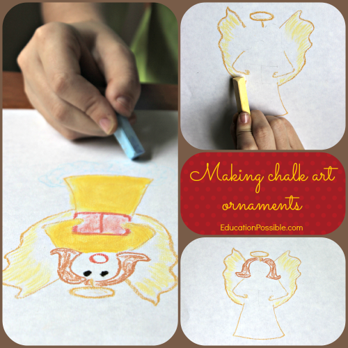 DIY Chalk Pastel Angel Ornament @Education Possible