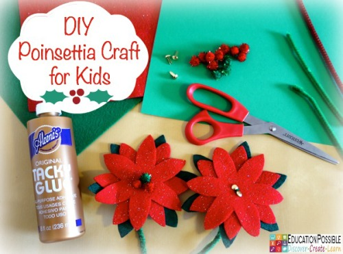 Poinsettia Craft for Kids - Education Possible