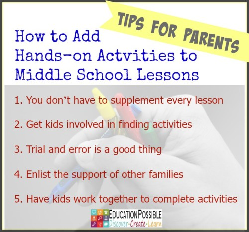 How to Add Hands-on Activities to Middle School Lessons - Education Possible