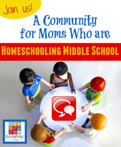 JOIN US! A Community for Moms Who Are Homeschooling Middle School