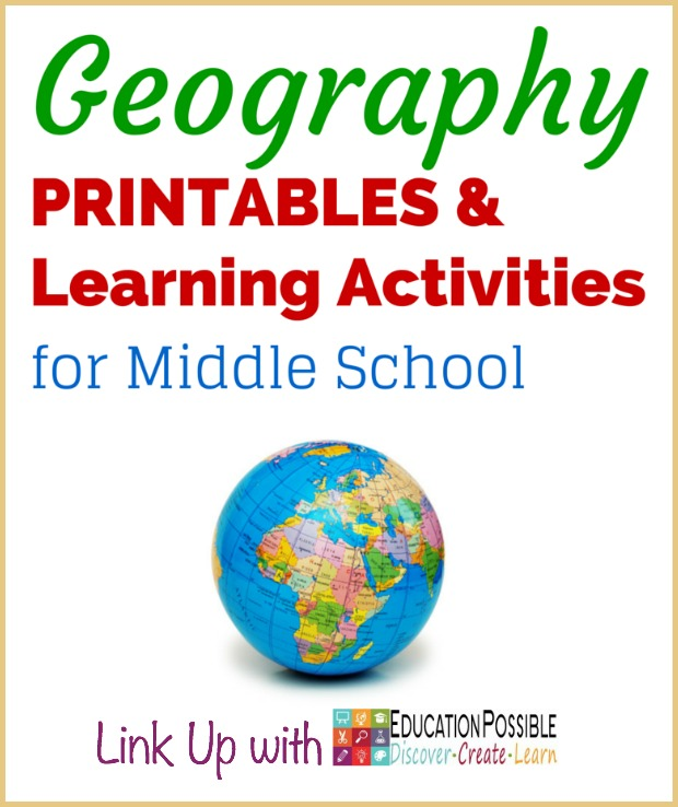 Geography Printables & Learning Activities for Middle School - Education Possible