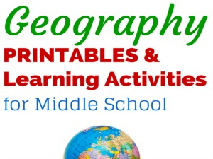 Geography Printables & Learning Activities for Middle School – Link up