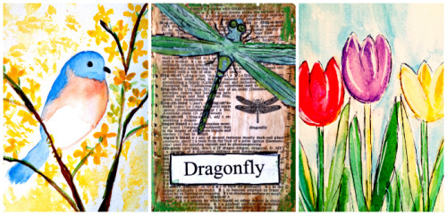 Springtime Splendor Mixed Media Art Workshop For Older Kids Education Possible