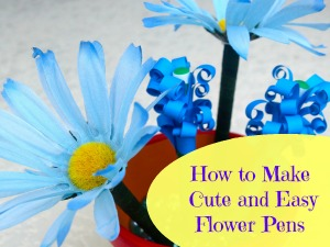 How to Make Cute and Easy Flower Pens