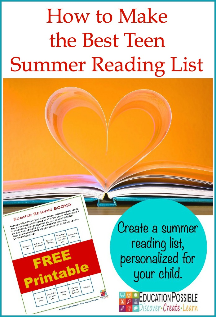 How to Make the Best Teen Summer Reading List - Education Possible