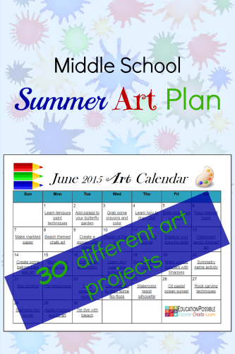 Download your FREE 30 Day Summer Art Plan @Education Possible