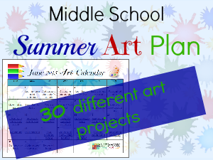 Download your FREE 30 Day Summer Art Plan featured