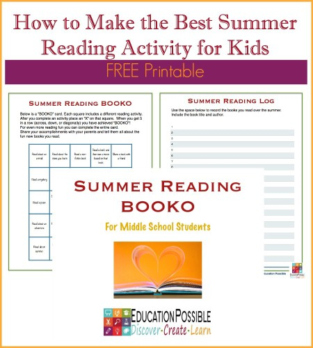 FREE Summer Reading Activity from Education Possible