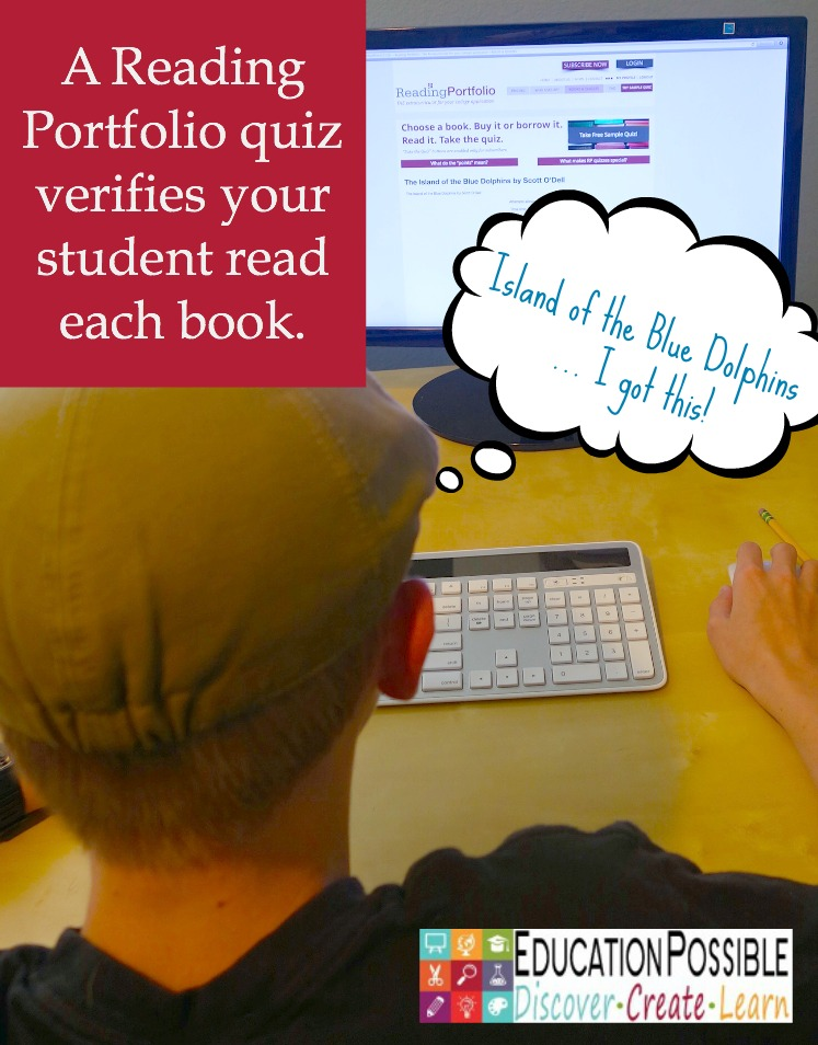 Teen Summer Reading with Reading Portfolio includes quizzes. - Education Possible