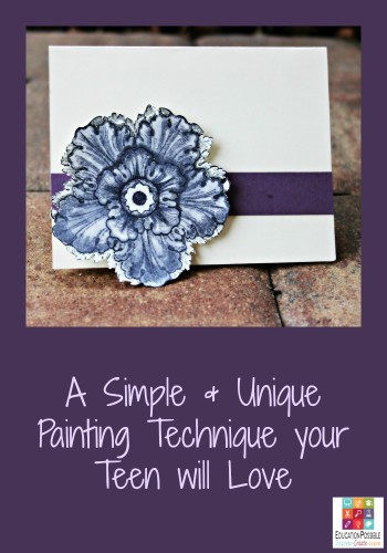 A Simple & Unique Painting Technique your Teen will Love @Education Possible