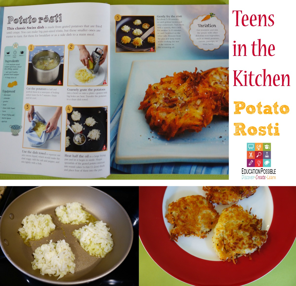 Teens in the Kitchen - Steps for Potato Rosti - Education Possible