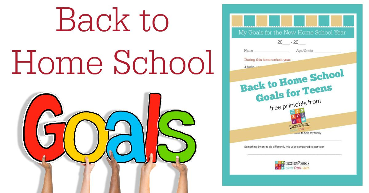 Back to Homeschool Goals - Printable from Education Possible