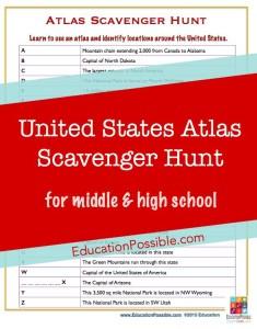 US Atlas Scavenger Hunt - Education Possible