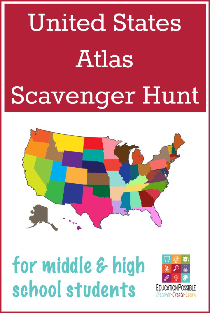 United States Atlas Scavenger Hunt - EducationPossible