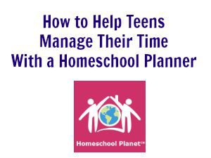 Teens Manage Their Time with a Homeschool Planner - Education Possible